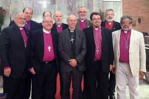 Archbishop Justin Welby with Anglican bishops in São Paulo, Brazil, 4 Sept 2014 (ACNS)