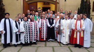 The Archbishop of Canterbury with the Bishops of the Anglican Church of South America (ACNS)